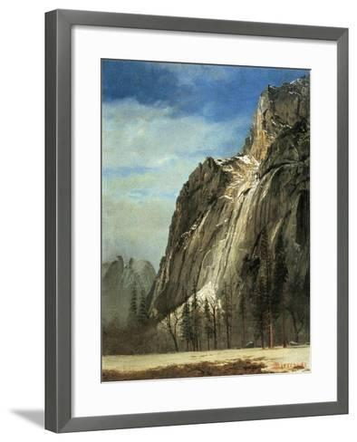 Cathedral Rocks, Yosemite, C.1872-Albert Bierstadt-Framed Art Print