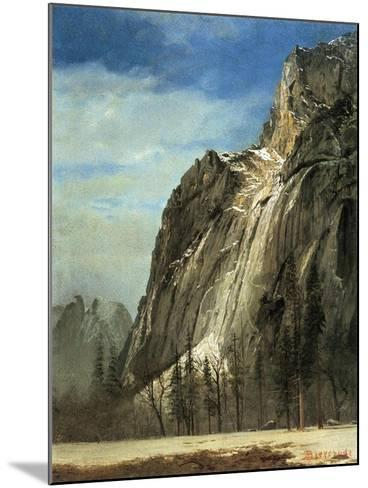 Cathedral Rocks, Yosemite, C.1872-Albert Bierstadt-Mounted Giclee Print