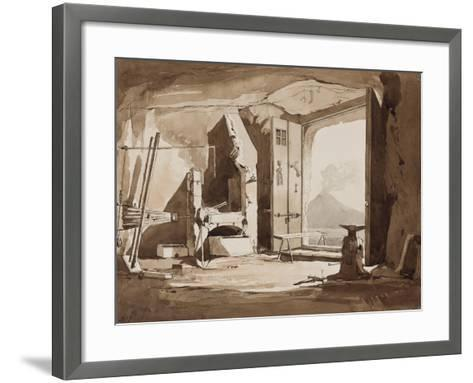 Interior of a Forge-Achille Vianelli-Framed Art Print