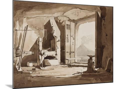 Interior of a Forge-Achille Vianelli-Mounted Giclee Print