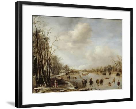 Winter Landscape, 1645-Aert van der Neer-Framed Art Print