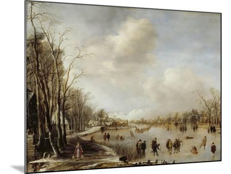 Winter Landscape, 1645-Aert van der Neer-Mounted Giclee Print
