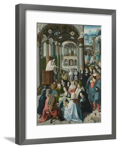 The Calling of Saint Anthony, C.1530-Aertgen Claesz van Leyden-Framed Art Print