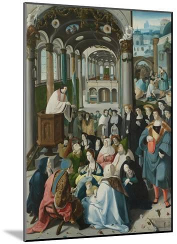 The Calling of Saint Anthony, C.1530-Aertgen Claesz van Leyden-Mounted Giclee Print