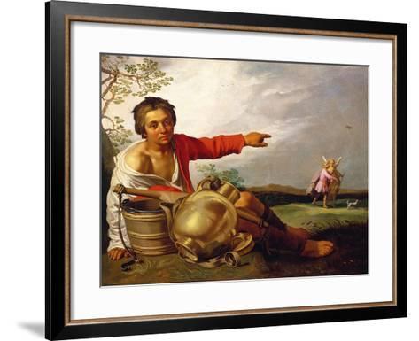 Shepherd Boy Pointing at Tobias and the Angel, C.1625-30-Abraham Bloemaert-Framed Art Print