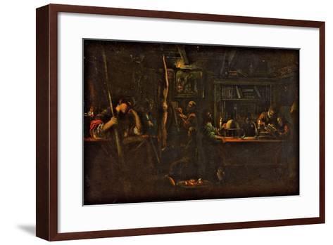 Minerva as Patroness of Arts and Sciences, 1600-05-Adam Elsheimer-Framed Art Print