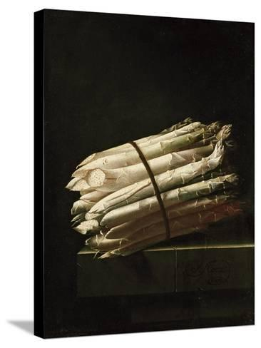 Still Life of Asparagus, 1699-Adrian Coorte-Stretched Canvas Print