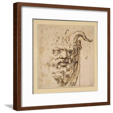 A Silvan Mask-Agostino Carracci-Framed Art Print