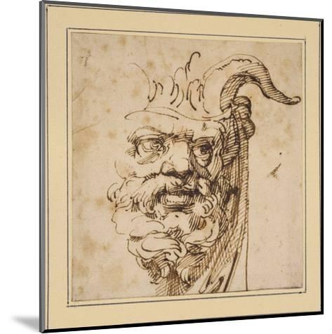 A Silvan Mask-Agostino Carracci-Mounted Giclee Print