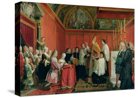 The Solemnization of the Marriage of Prince James Francis Edward Stuart (1688-1766) and Princess Ma-Agostino Masucci-Stretched Canvas Print