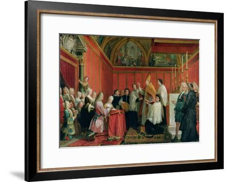 The Solemnization of the Marriage of Prince James Francis Edward Stuart (1688-1766) and Princess Ma-Agostino Masucci-Framed Art Print