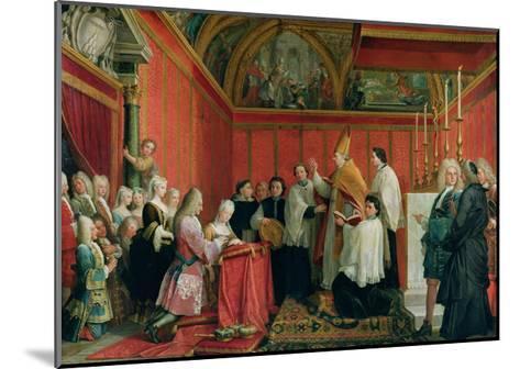 The Solemnization of the Marriage of Prince James Francis Edward Stuart (1688-1766) and Princess Ma-Agostino Masucci-Mounted Giclee Print
