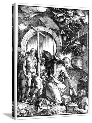 The Harrowing of Hell or Christ in Limbo, from the Large Passion, 1510-Albrecht D?rer-Stretched Canvas Print