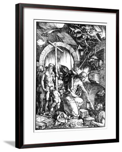 The Harrowing of Hell or Christ in Limbo, from the Large Passion, 1510-Albrecht D?rer-Framed Art Print
