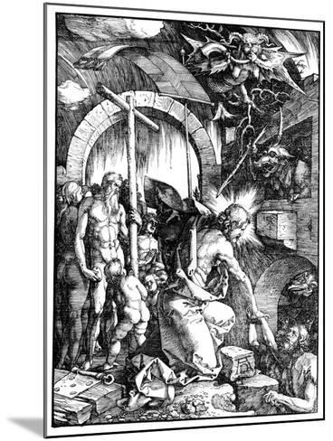 The Harrowing of Hell or Christ in Limbo, from the Large Passion, 1510-Albrecht D?rer-Mounted Giclee Print