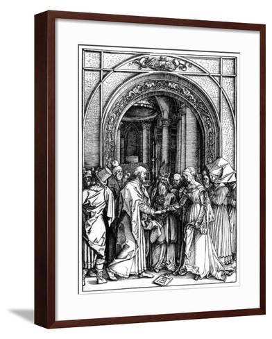 The Betrothal of the Virgin, from the Life of the Virgin, C.1504-Albrecht D?rer-Framed Art Print