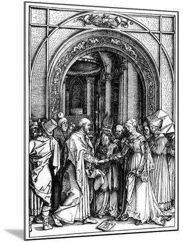 The Betrothal of the Virgin, from the Life of the Virgin, C.1504-Albrecht D?rer-Mounted Giclee Print