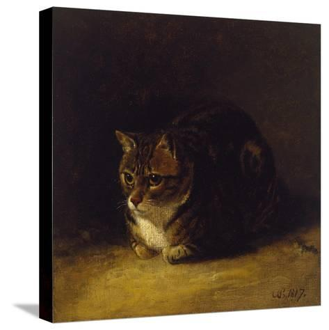 Study of a Cat, 1817-Abraham Cooper-Stretched Canvas Print