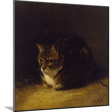 Study of a Cat, 1817-Abraham Cooper-Mounted Giclee Print