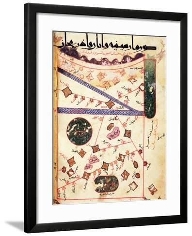 Map of the South of Russia and Azerbaijan- Al Istakhri-Framed Art Print