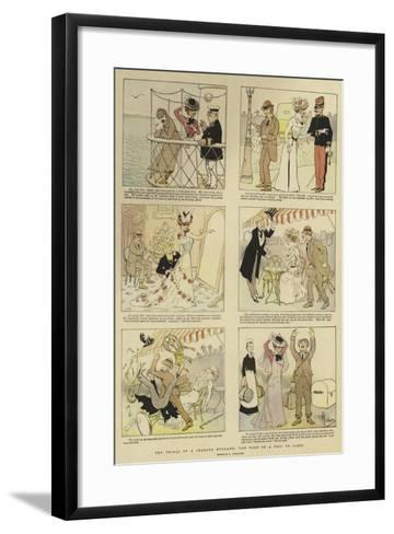 The Trials of a Jealous Husband, the Tale of a Trip to Paris-Albert Guillaume-Framed Art Print