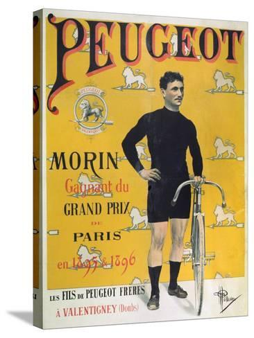 Poster Advertising the Cycles 'Peugeot', 1896-Albert Guillaume-Stretched Canvas Print