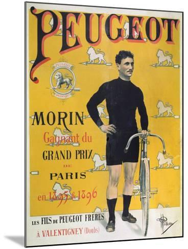 Poster Advertising the Cycles 'Peugeot', 1896-Albert Guillaume-Mounted Giclee Print