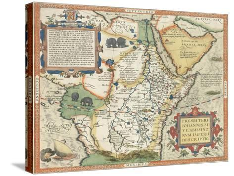 Map of Africa and the Arabian Peninsula-Abraham Ortelius-Stretched Canvas Print