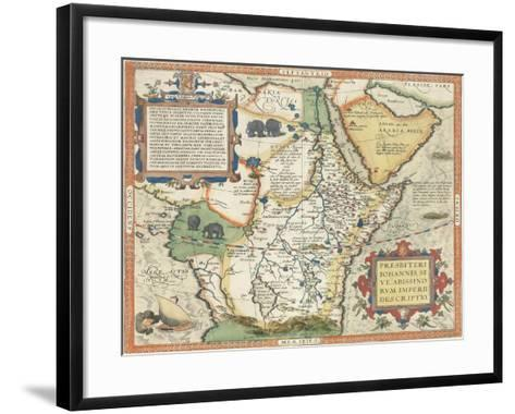 Map of Africa and the Arabian Peninsula-Abraham Ortelius-Framed Art Print