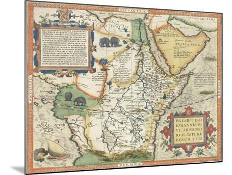 Map of Africa and the Arabian Peninsula-Abraham Ortelius-Mounted Giclee Print