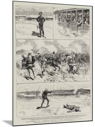 Experiences of a British Officer of the Gendarmerie in Egypt-Adrien Emmanuel Marie-Mounted Giclee Print