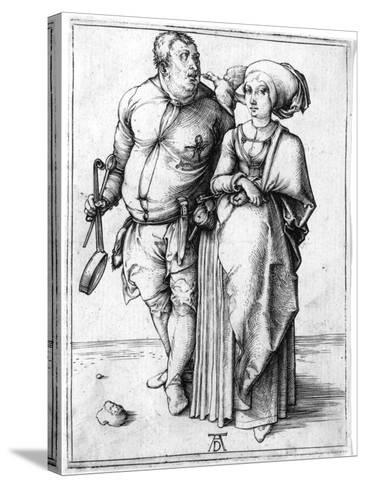 A Cook and His Wife, C.1496-Albrecht D?rer-Stretched Canvas Print