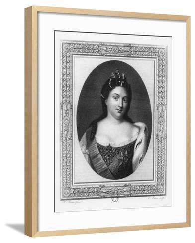 Catherine I of Russia-A. J. Mecou-Framed Art Print