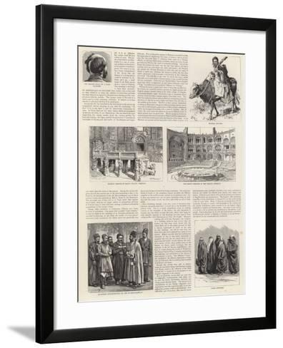 The Shah and His Country-Adrien Emmanuel Marie-Framed Art Print
