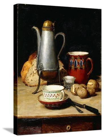 Still Life: Coffee and Potatoes, 1897-Albert Anker-Stretched Canvas Print