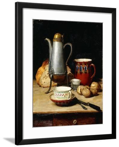 Still Life: Coffee and Potatoes, 1897-Albert Anker-Framed Art Print