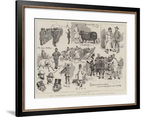 The Smithfield Club Cattle Show at the Agricultural Hall-Alfred Chantrey Corbould-Framed Art Print
