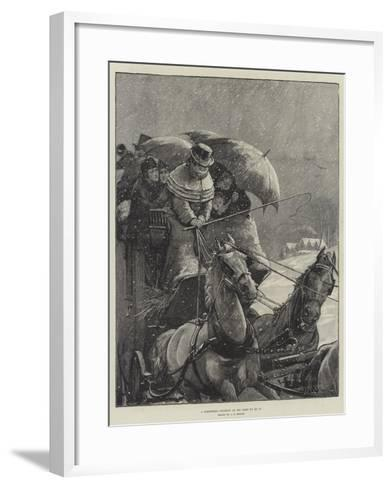 A Christmas Journey as We Used to Do It-Alfred Edward Emslie-Framed Art Print