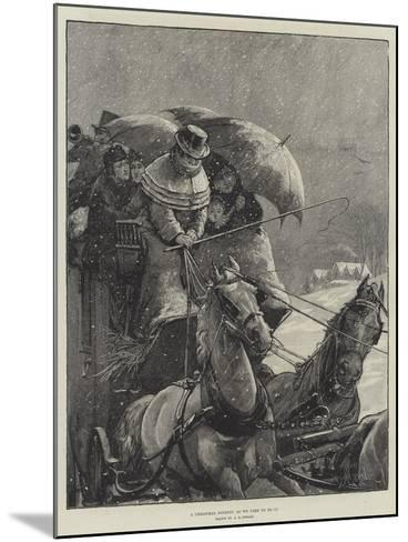 A Christmas Journey as We Used to Do It-Alfred Edward Emslie-Mounted Giclee Print