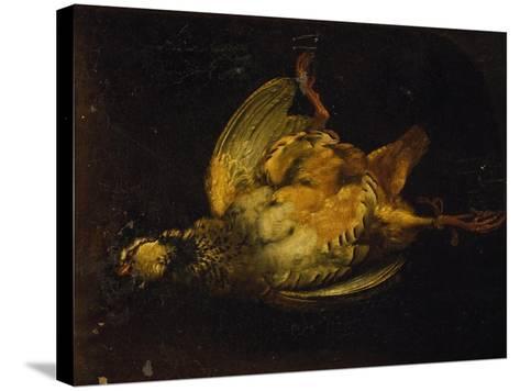 Still Life with Partridge-Alexandre-Francois Desportes-Stretched Canvas Print
