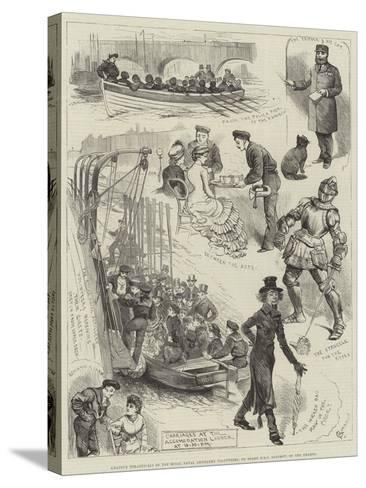 Amateur Theatricals of the Royal Naval Artillery Volunteers, on Board HMS Rainbow, on the Thames-Alfred Courbould-Stretched Canvas Print