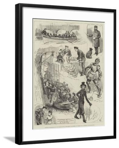 Amateur Theatricals of the Royal Naval Artillery Volunteers, on Board HMS Rainbow, on the Thames-Alfred Courbould-Framed Art Print