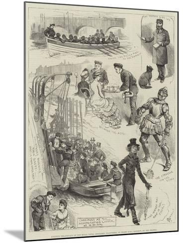 Amateur Theatricals of the Royal Naval Artillery Volunteers, on Board HMS Rainbow, on the Thames-Alfred Courbould-Mounted Giclee Print