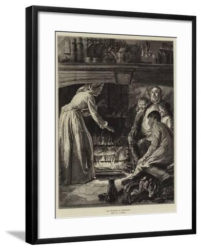 The Pleasures of Anticipation-Alfred Edward Emslie-Framed Art Print
