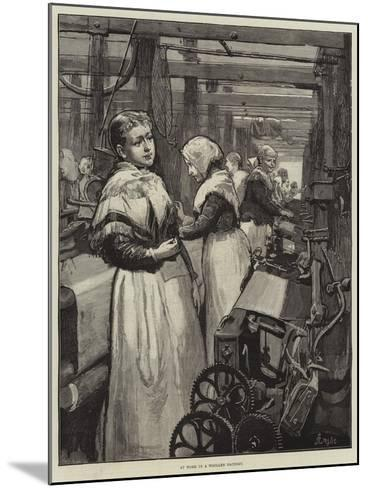 At Work in a Woollen Factory-Alfred Edward Emslie-Mounted Giclee Print
