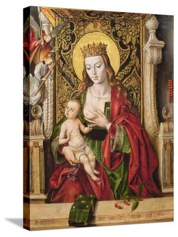 Virgin and Child (Panel)-Alonso Berruguete-Stretched Canvas Print