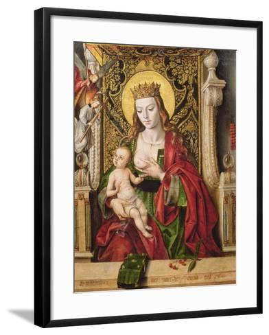 Virgin and Child (Panel)-Alonso Berruguete-Framed Art Print