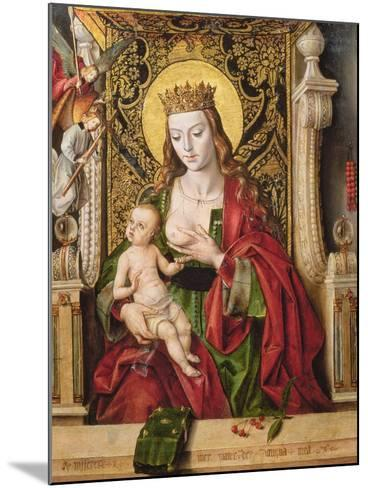 Virgin and Child (Panel)-Alonso Berruguete-Mounted Giclee Print
