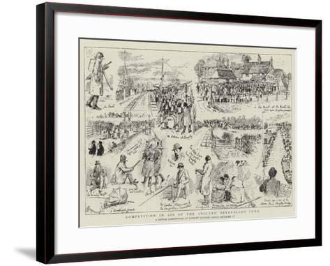 Competition in Aid of the Anglers' Benevolent Fund-Alfred Chantrey Corbould-Framed Art Print