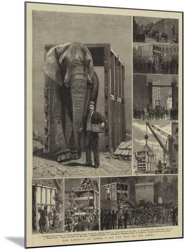 The Removal of Jumbo, I, on the Way to the Docks-Alfred Chantrey Corbould-Mounted Giclee Print